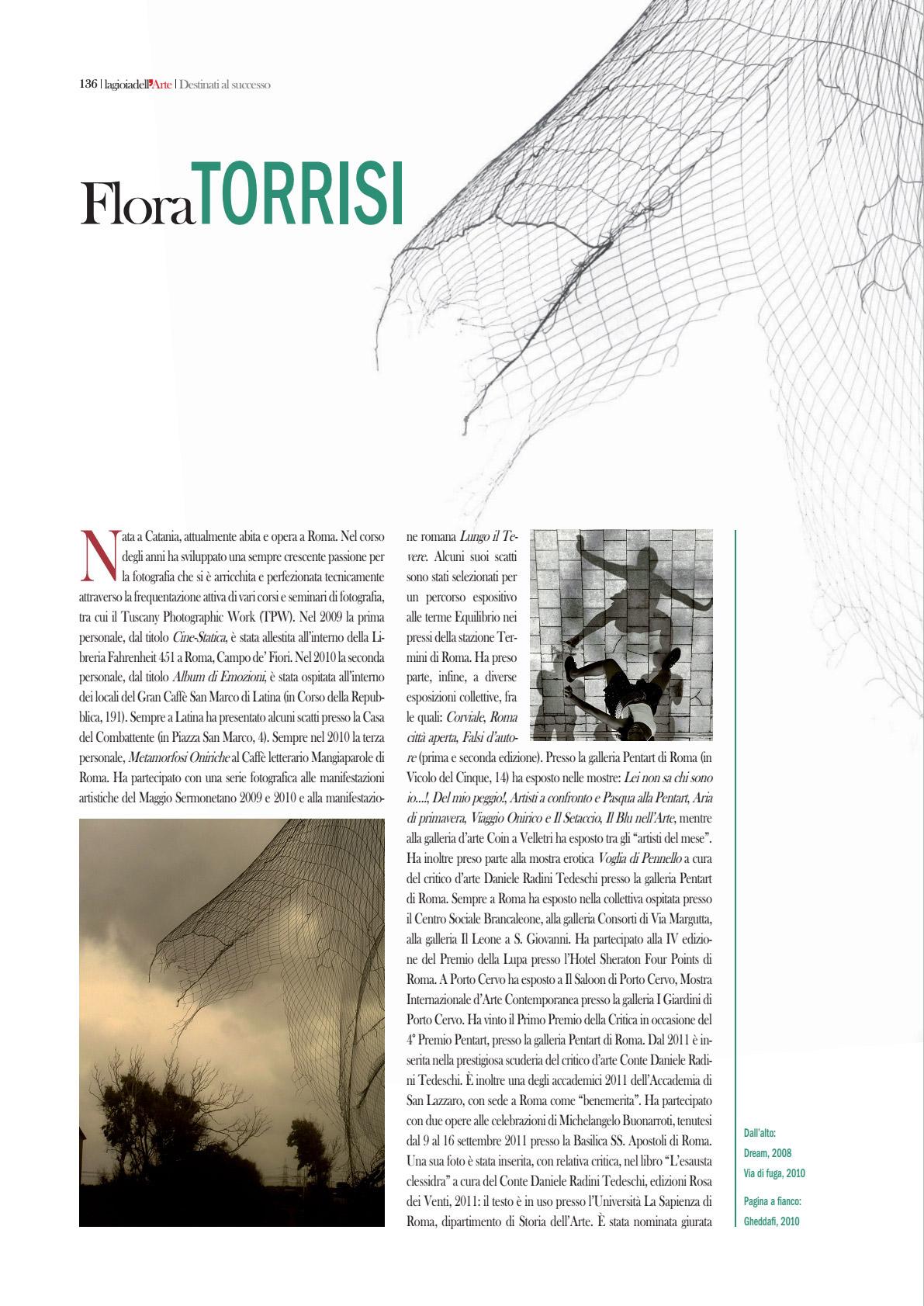 Flora Torrisi su La gioia dell'Arte 1