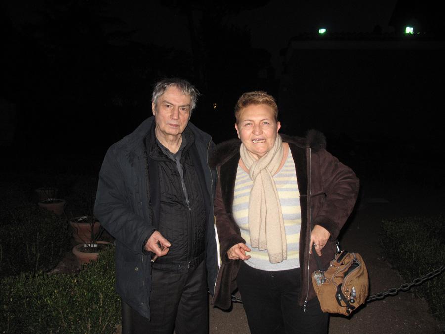 Flora Torrisi con il pittore Ennio Calabria