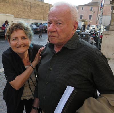 Flora Torrisi con il Prof. Achille Bonito Oliva