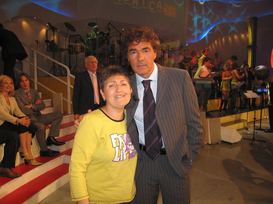Flora Torrisi con Massimo Giletti