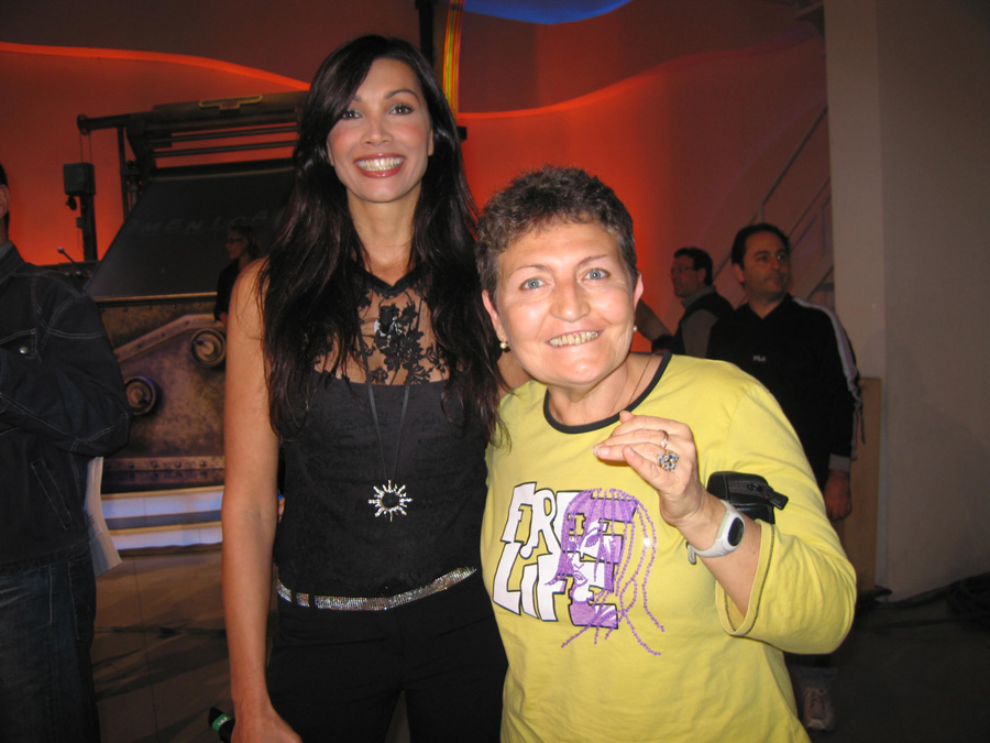 Flora Torrisi con Luisa Corna