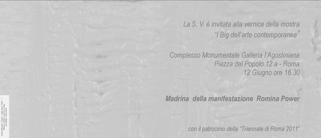 Vernice I BIG dell'Arte Contemporanea